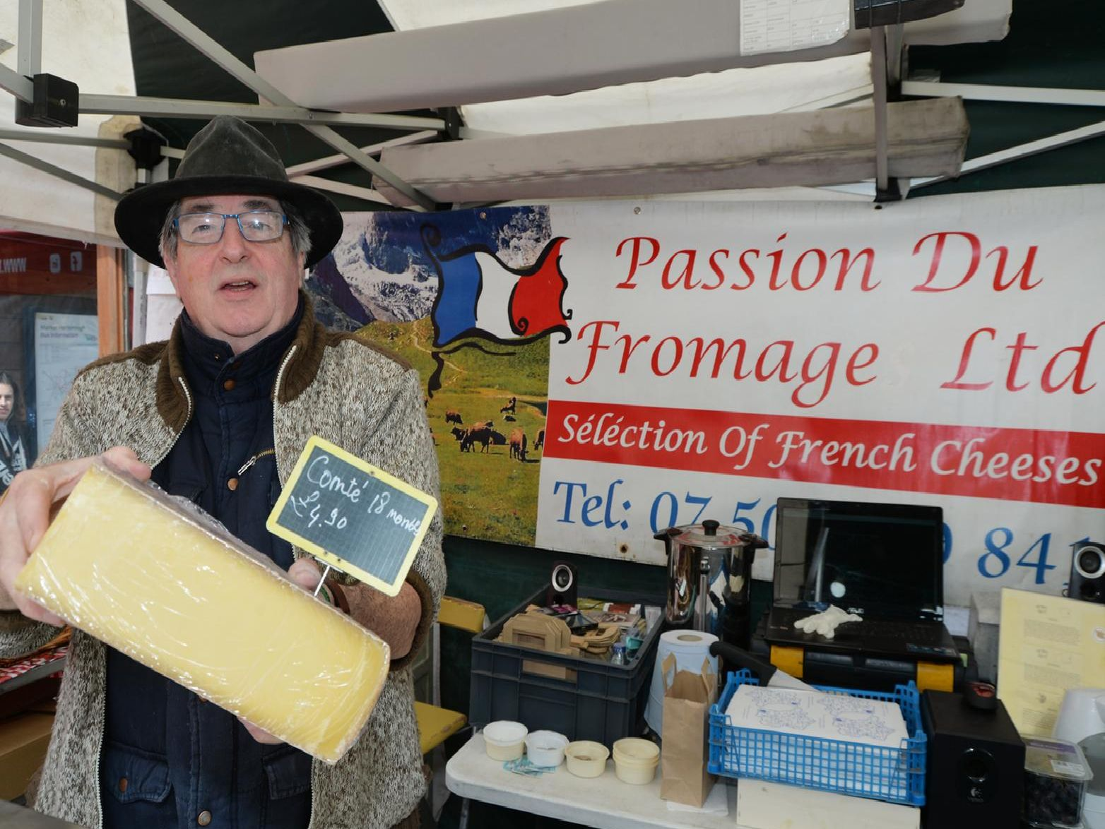 French cheese seller Christian Pontault. PICTURE: ANDREW CARPENTER