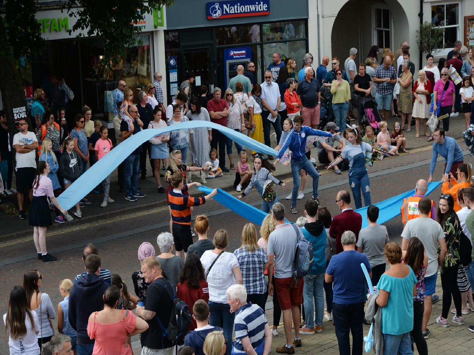 Busy scenes during the Arts Fresco event. PICTURE: ANDREW CARPENTER
