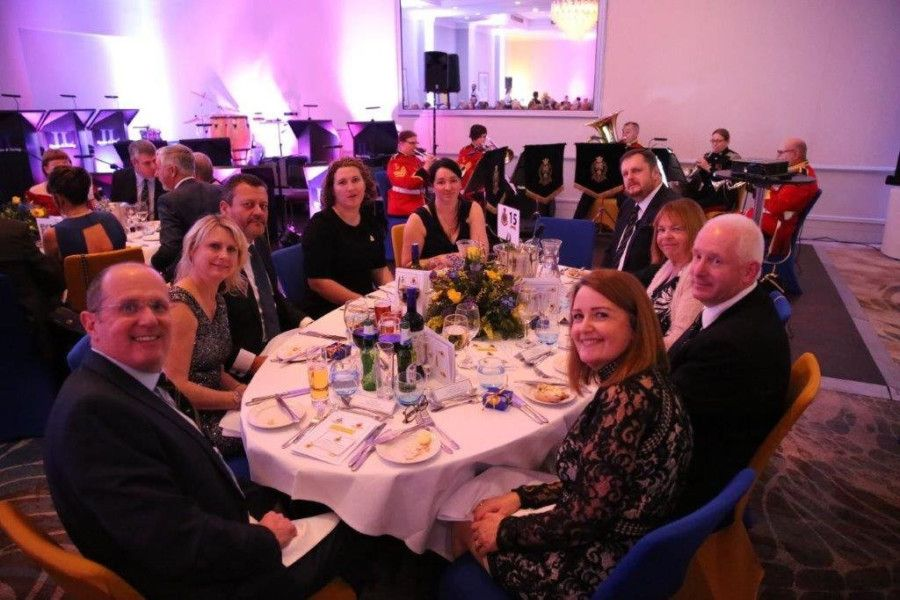Members of the Sussex Yeomanry Association at the centenary dinner