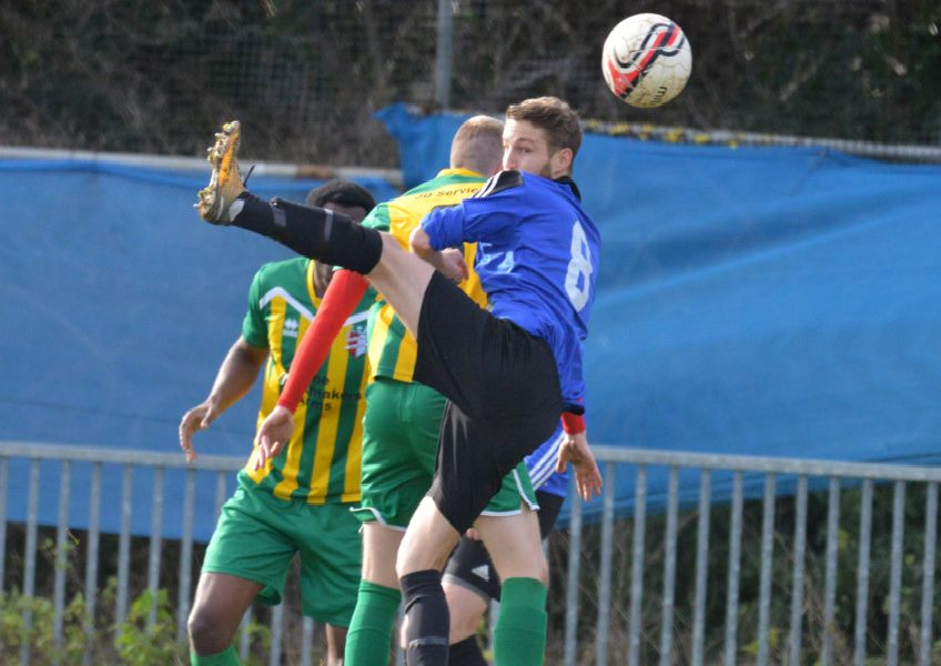 Action from Hollington United's 7-0 win at home to AFC Uckfield Town II. Pictures by Justin Lycett