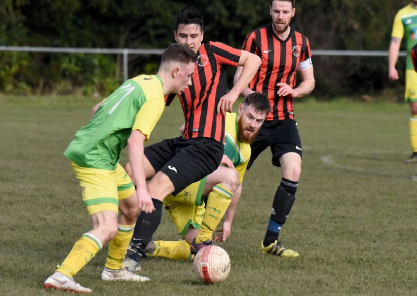 Action from Westfield's game at home to Rottingdean Village on Saturday