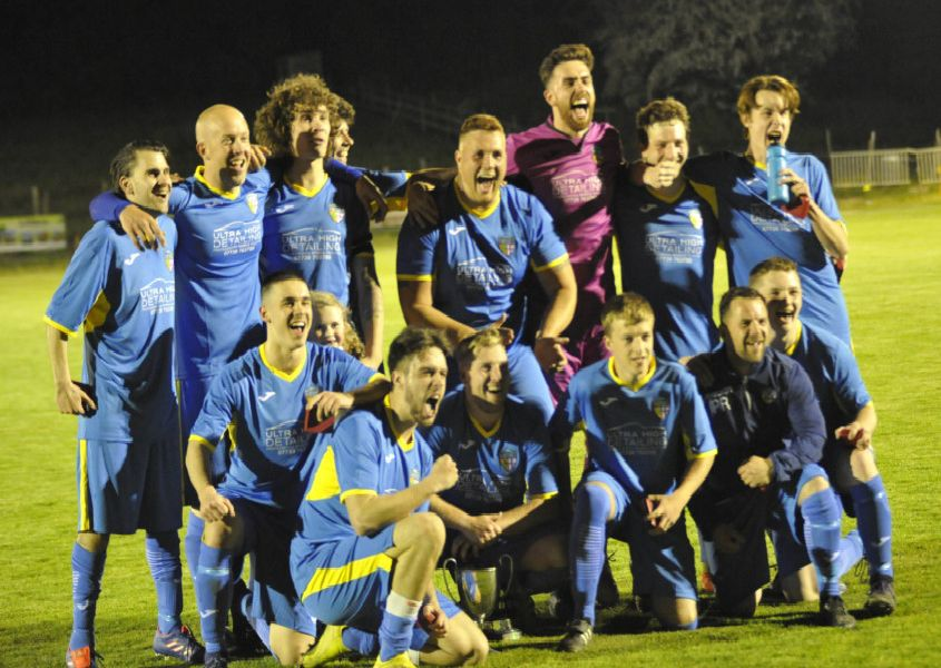 Northiam 75 II celebrate after winning the Robertsbridge Charity Junior Cup