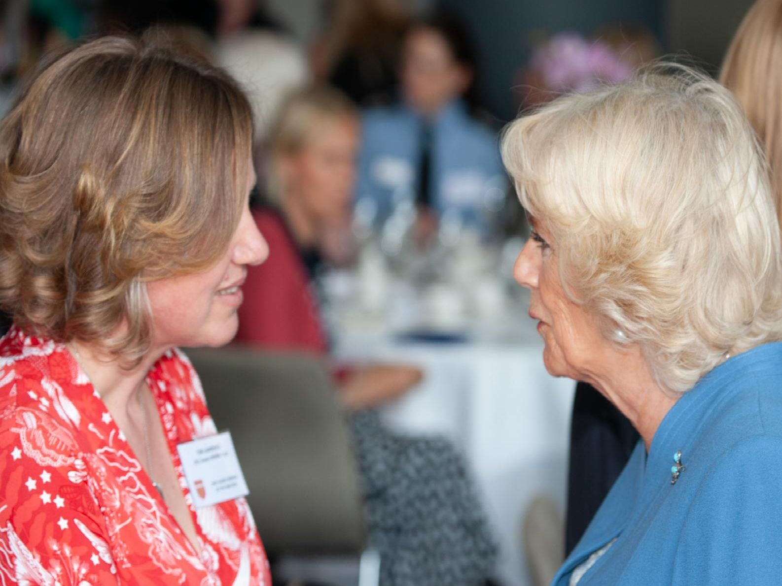 HRH The Duchess of Cornwall meeting women at the lunch event
