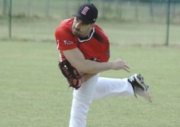 Herts Falcons pitcher Kyle Morrison.
