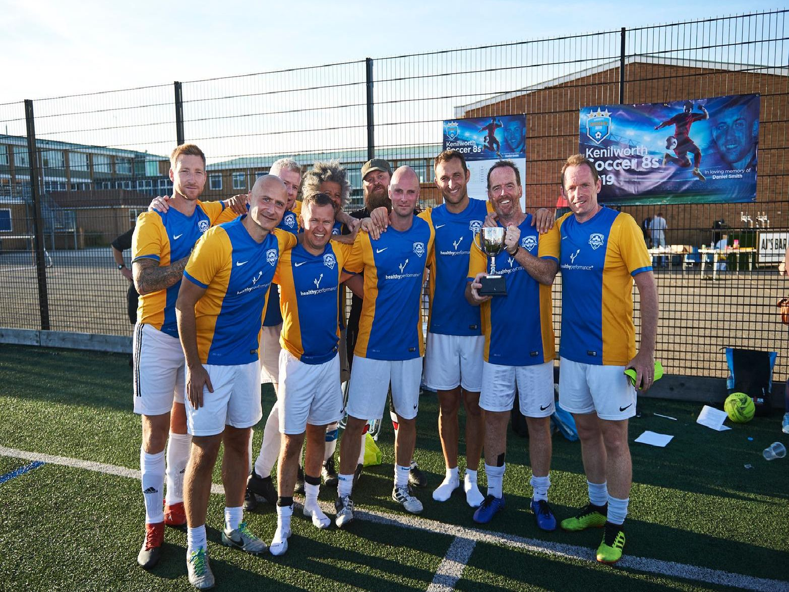 Real Sociable - the winning team at the Soccer 8s charity football tournament '(photo by Ben Duffy)