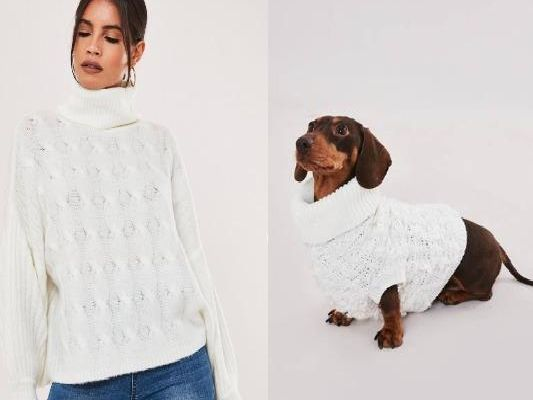Would you wear a matching outfit with your dog? (Photo: Misguided)