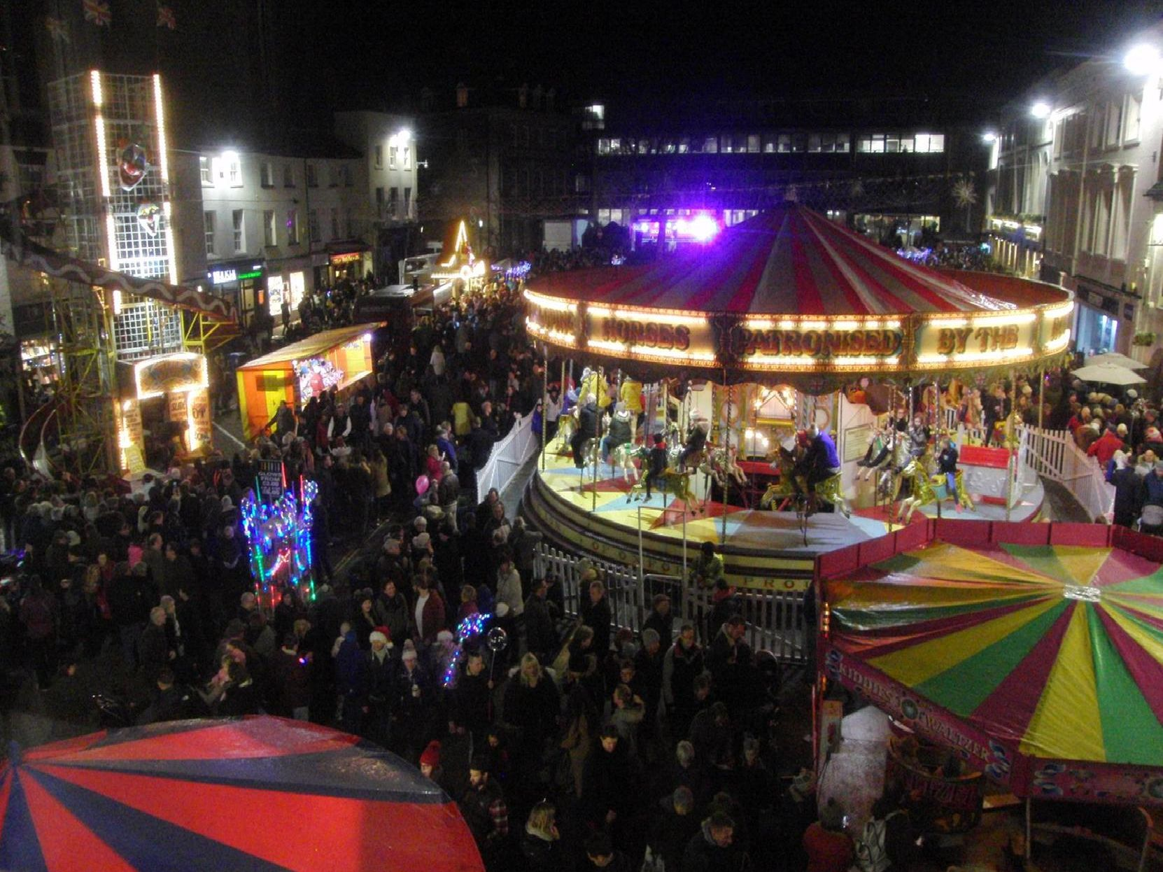 Photo from Warwick's Victorian Evening and Christmas lights switch on. Photo by Geoff Ousbey