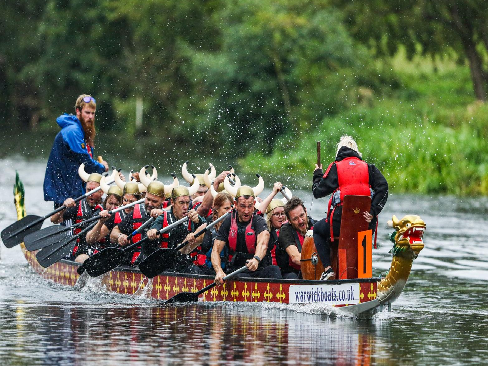 The Rotary Club of Warwick Avon held their annual charity dragon boat races in Warwick last weekend. Photo by Sarah Hill