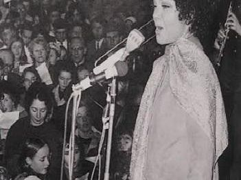 Singer Cleo Laine was among the famous faces to lend her support to the campaign
