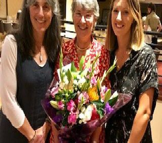 Lady President of Lisburn Golf Club Hazel Boomer pictured with Zoe Cook and Sue McKnight  and her 'Par Tee' who raised �620 during''Lady Presidents' Day