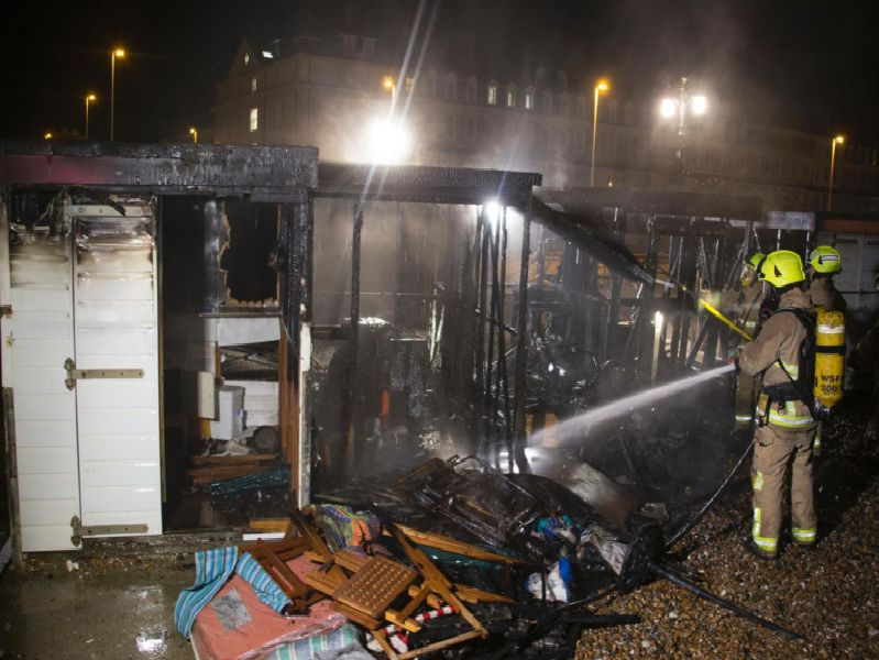 Fire at Marine Parade, Worthing