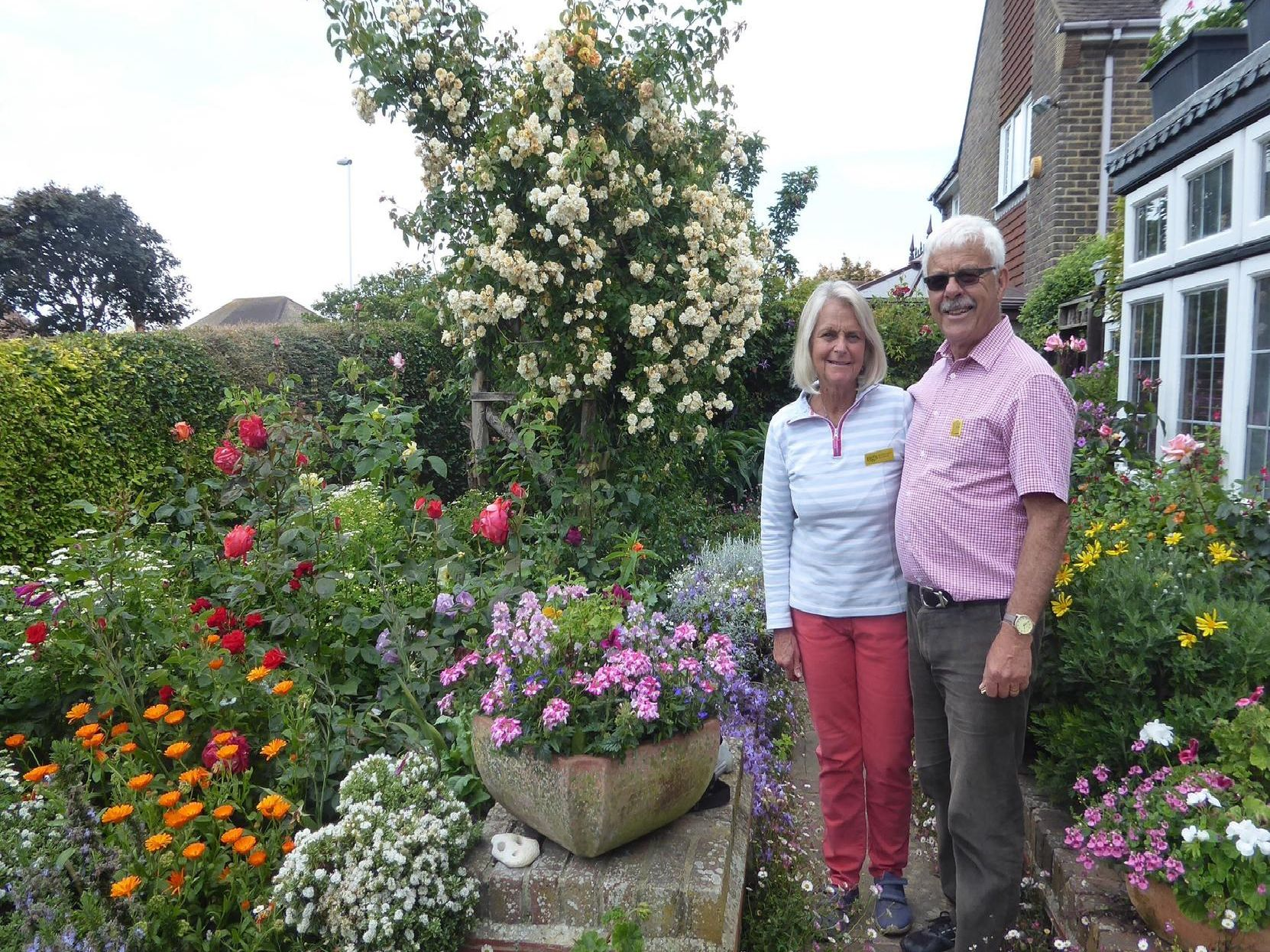 Trevor and Jennie Rollings opened up their garden in Goring for the very last time at the weekend