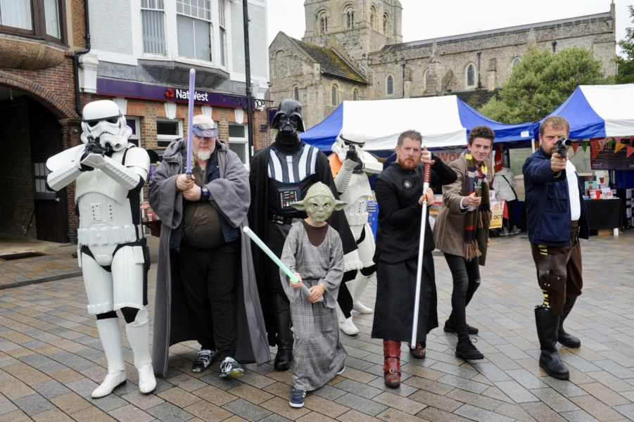 Lookalikes were dotted around Shoreham for the Star Trail