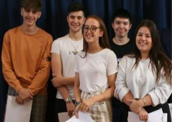 Pictured from left are Cain Marshall, Daniel Blunt, Robert Harrison (back row) plus Poppy Dawick and Chelsea Olaribigbe (front row). EMN-190822-140807001