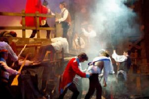 A scene from MADS production of Les Mis.