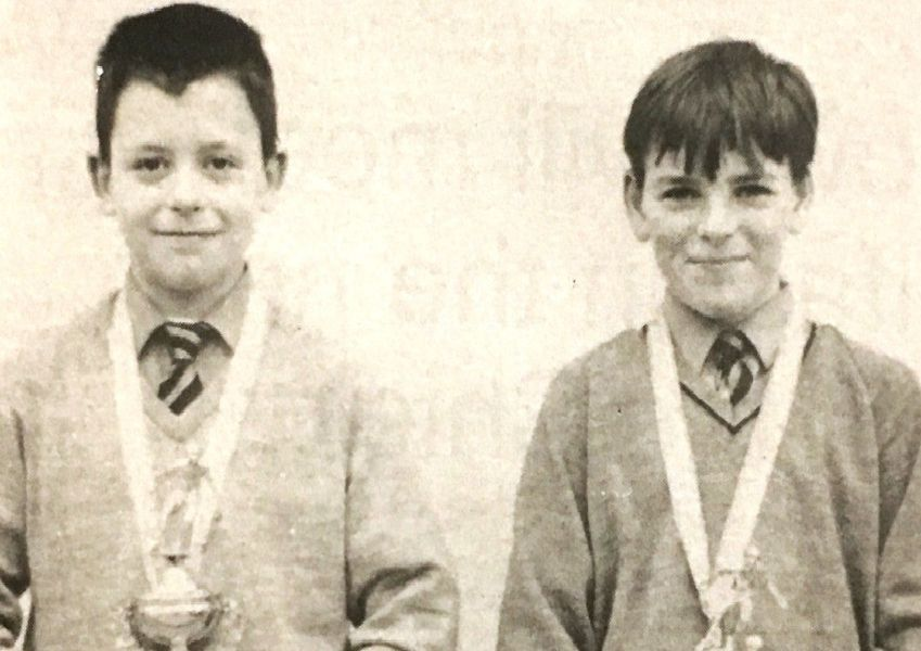 Stephen Kerr who won a goalkeeping award and Donal McCourt who was player of the Craigavon fives tournament in 1992.