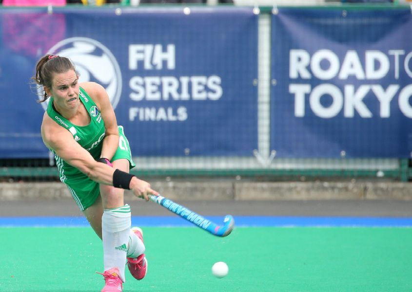 Ireland's Lizzie Colvin in action against Korea during the FIH Series Final at Banbridge