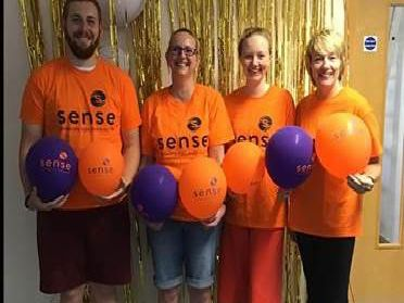 Cameron Russell, Claire Ireson, Cara Wharton and Carol Saunders will be doing the skydive to raise money for Sense