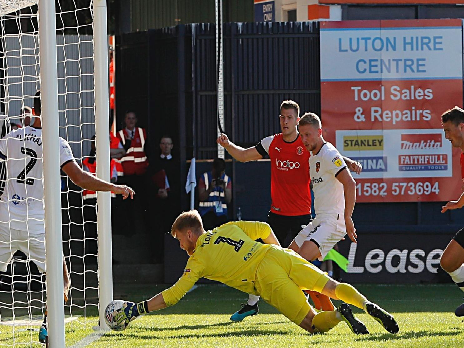 The Hatters go close to an equaliser against Hull on Saturday
