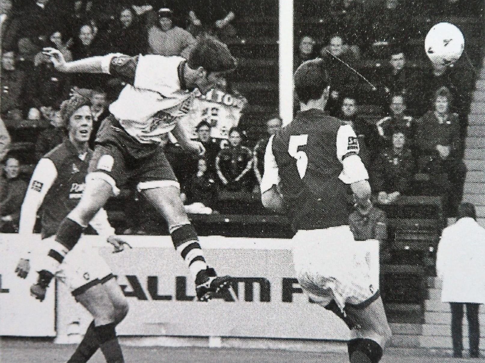 Tony Thorpe scores yet another goal for the Hatters during his Town career