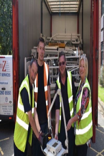Equipment from hospitals in Melton and Leicester being shipped to a hospital in Africa EMN-191007-171931001