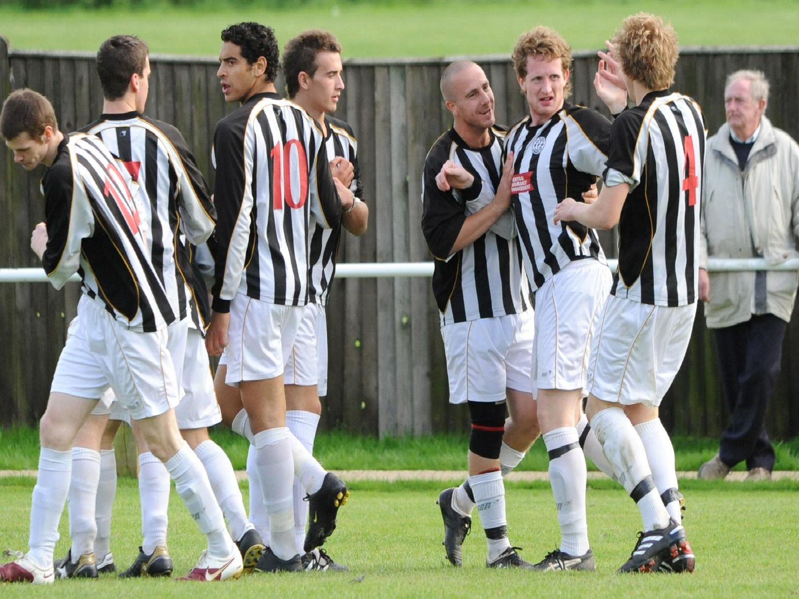 Celebrating a goal against Bexhill in 2010