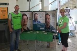 Samaritans working at Horsham railways station