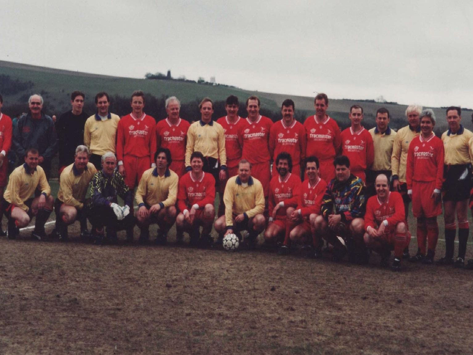 Hassocks and Chelsea teams line-up for a team picture before the Matthew Harding Memorial game in March on 1997. Do you recognise anyone?