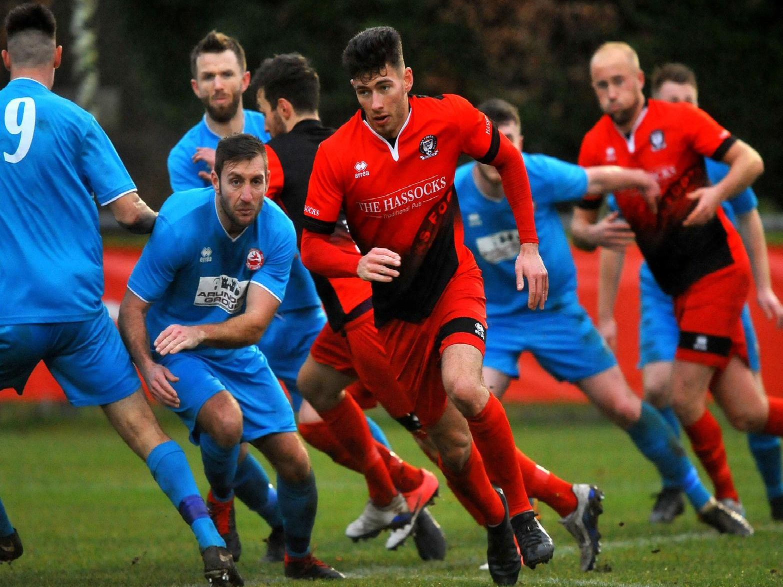 Liam Benson in action for Hassocks against Arundel