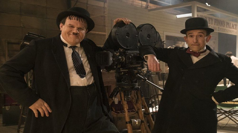 John C. Reilly as Oliver Hardy and Steve Coogan as Stan Laurel. Picture: Entertainment One SUS-190114-132601001