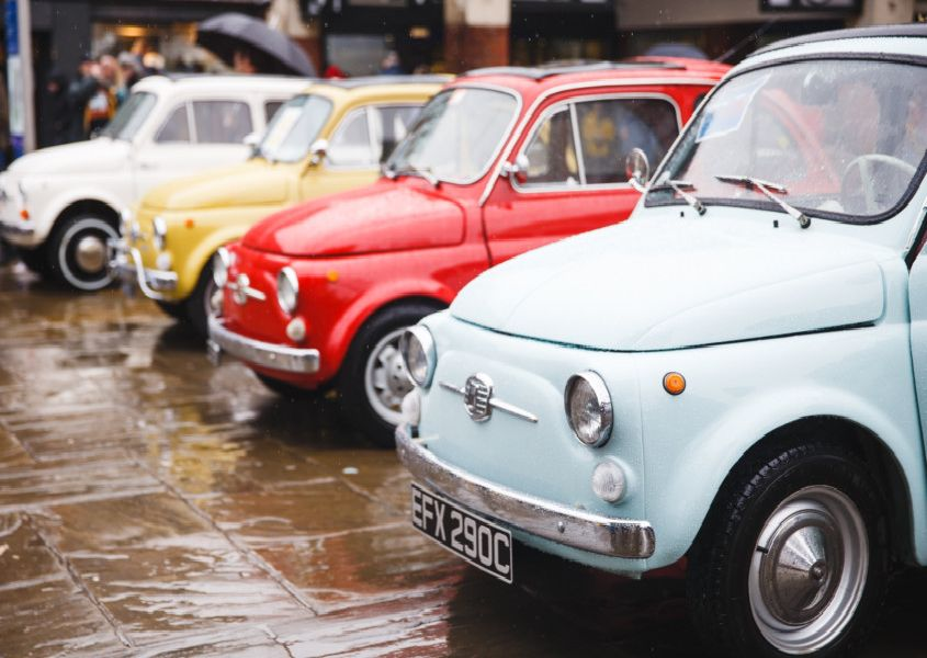 Classic FIAT 500s will be in the Carfax on Good Friday. Picture: Toby Phillips Photography SUS-190416-101047001