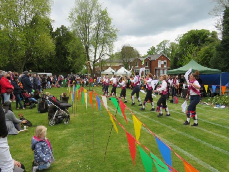 Ditchling Morris Dancers performing at the Spring Festival