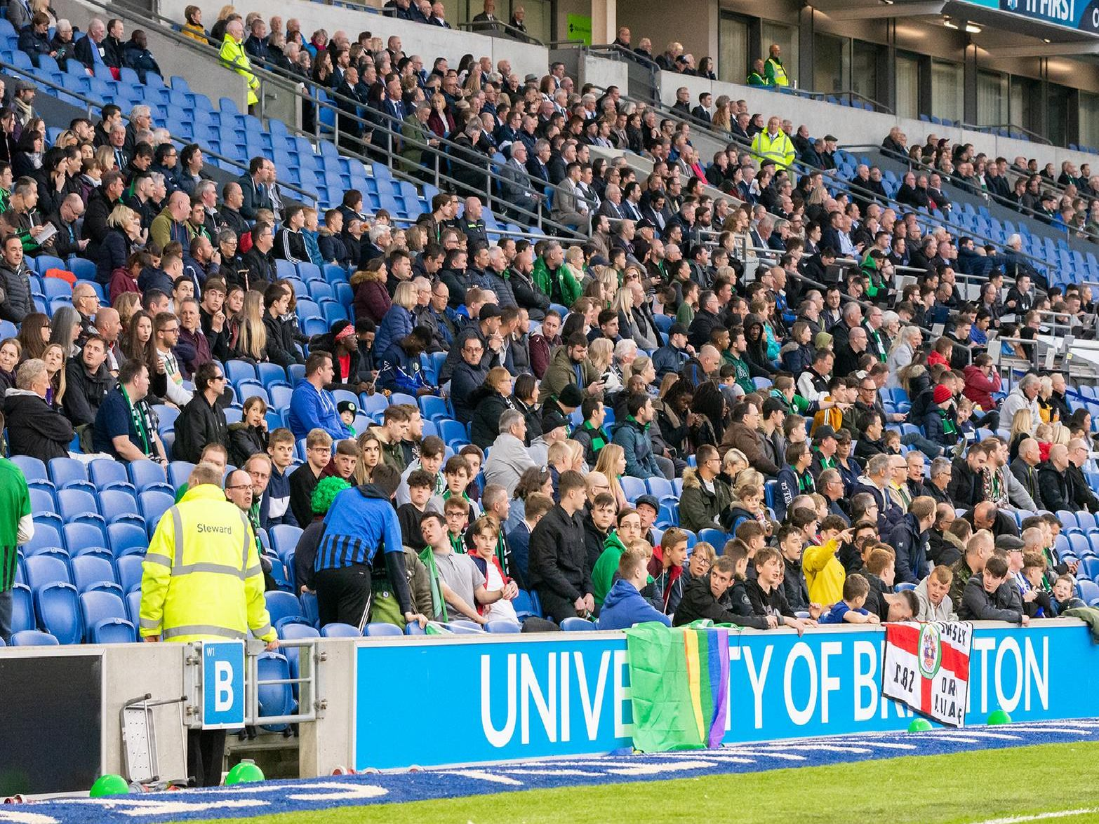 Burgess Hill Town fans at the Amex