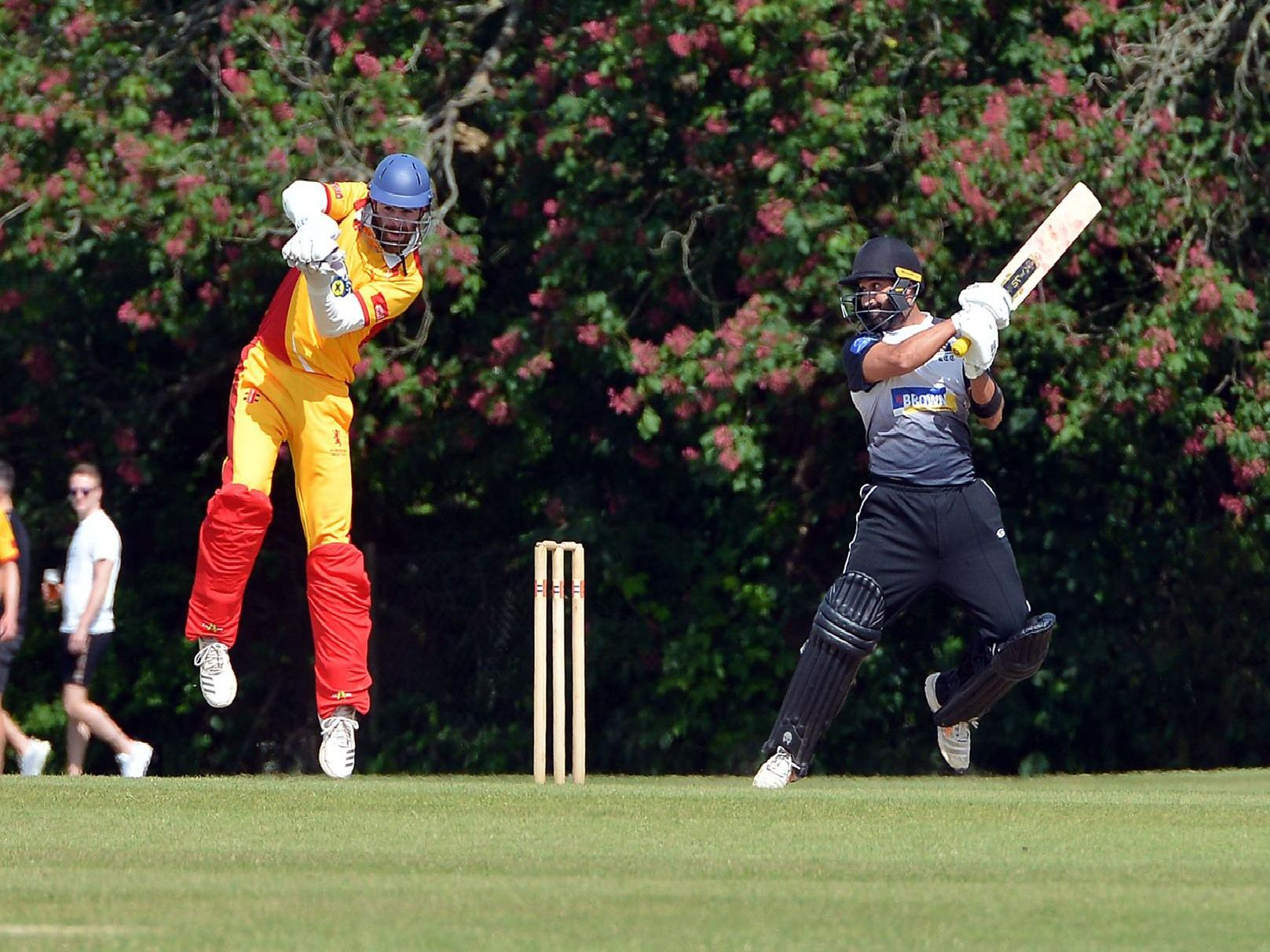 Jibran Khan hits out during his 82 not out