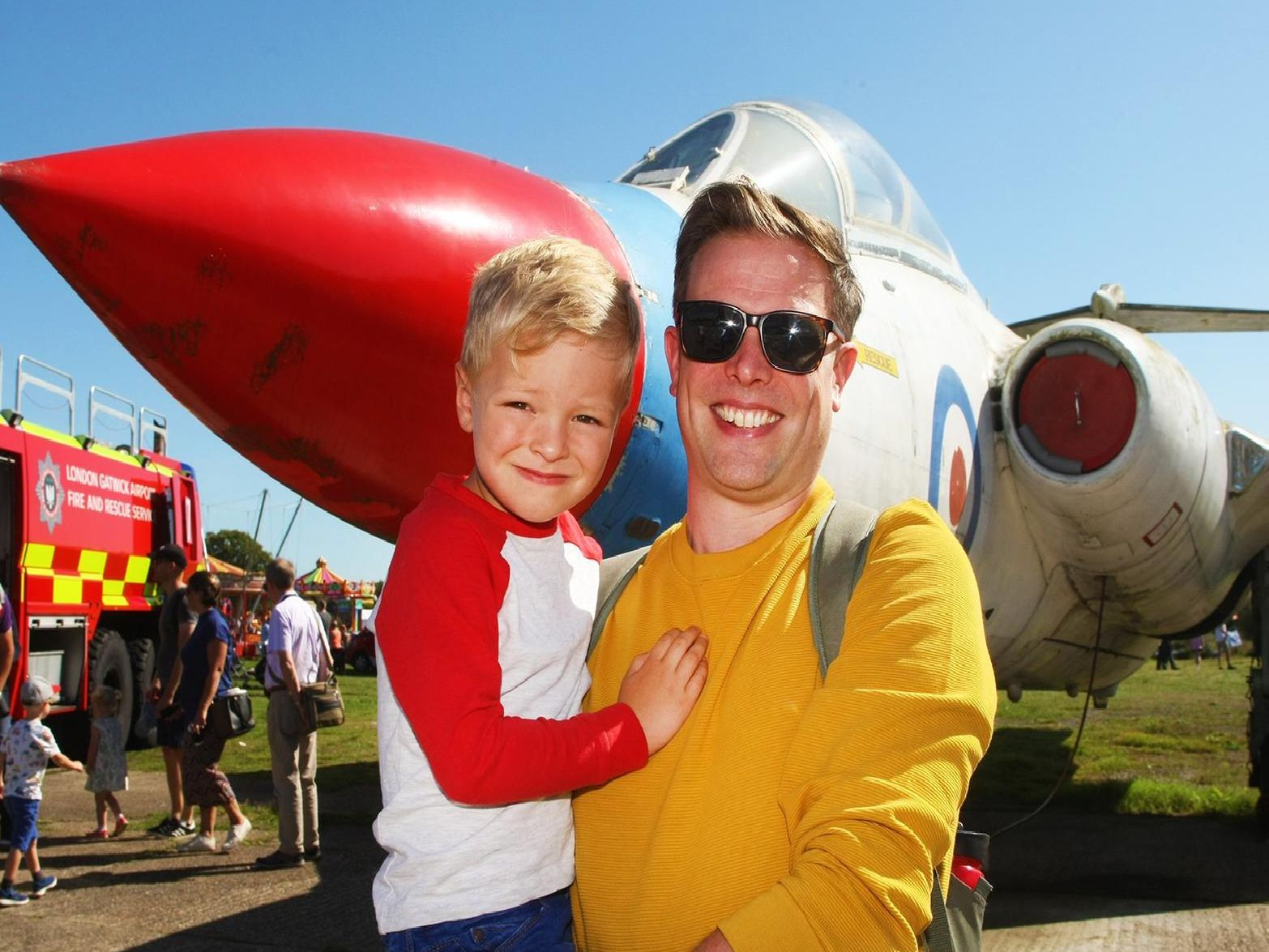 The sun shone as visitors enjoyed an exclusive behind the scenes look at some of  Gatwick Airport's operations at its annual Fun Day event.