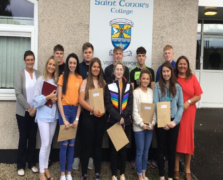 Selection of our students with Mrs Deirdragh Harvey, Ms Laura Mullan and Mrs Margaret Watson, Senior Teachers