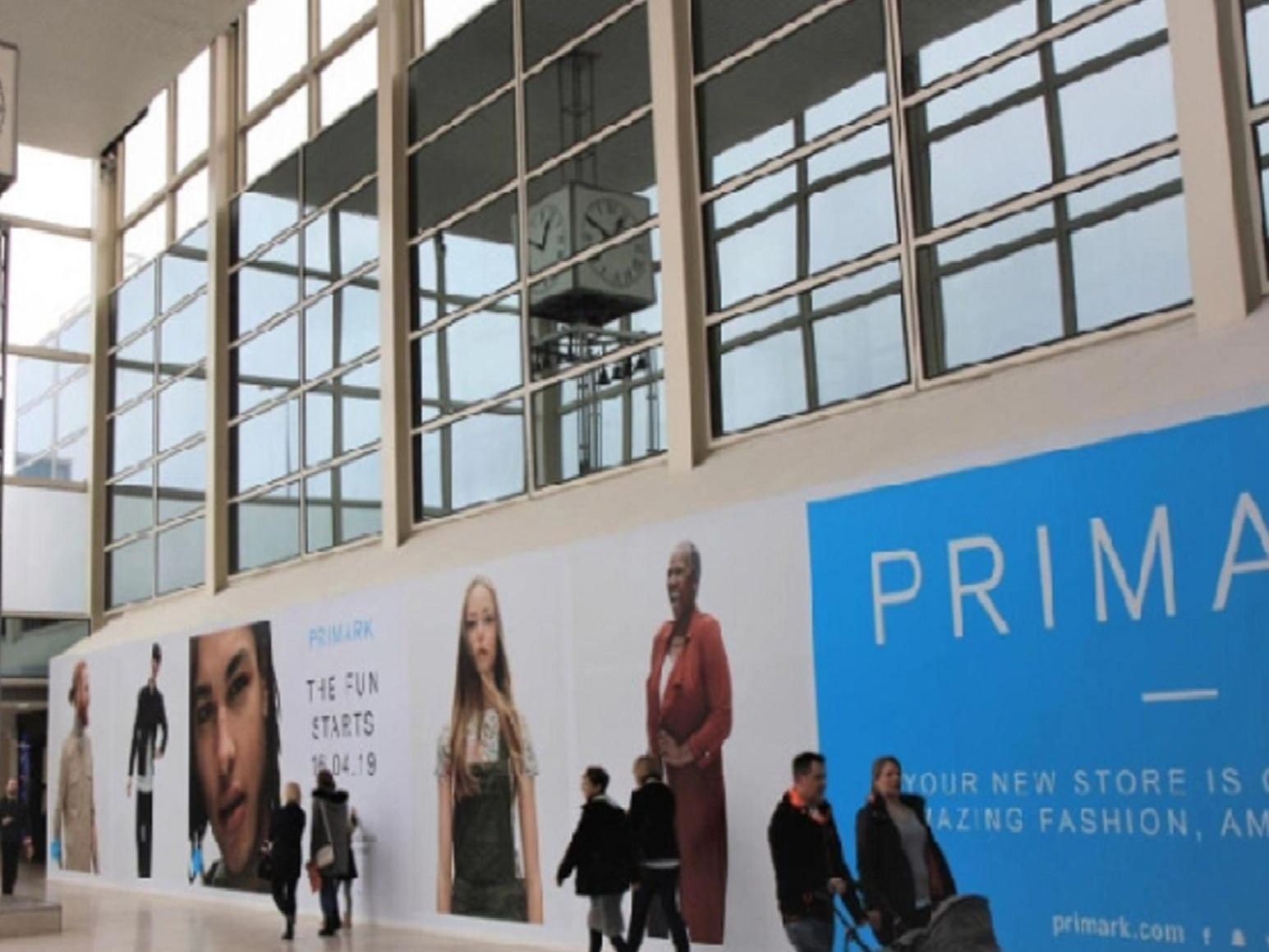 The hoarding comes off as MK's new Primark opens
