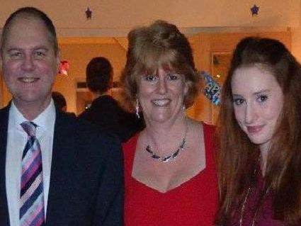 Alana Cutland with her parents Alison and Neil