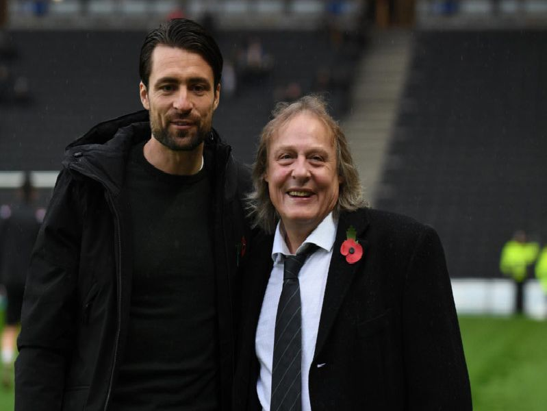 Russell Martin with Pete Winkelman