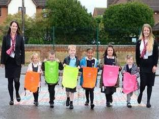 The children love their new bags