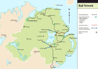 International Airports In Ireland Map.Ambitious Rail Plan Could Finally Create Link To Belfast