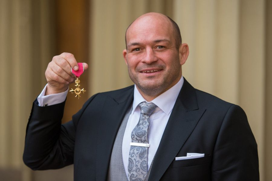 Rugby player Rory Best with his OBE medal, which was presented at an investiture ceremony at Buckingham Palace, London. Picture: Dominic Lipinski/PA Wire