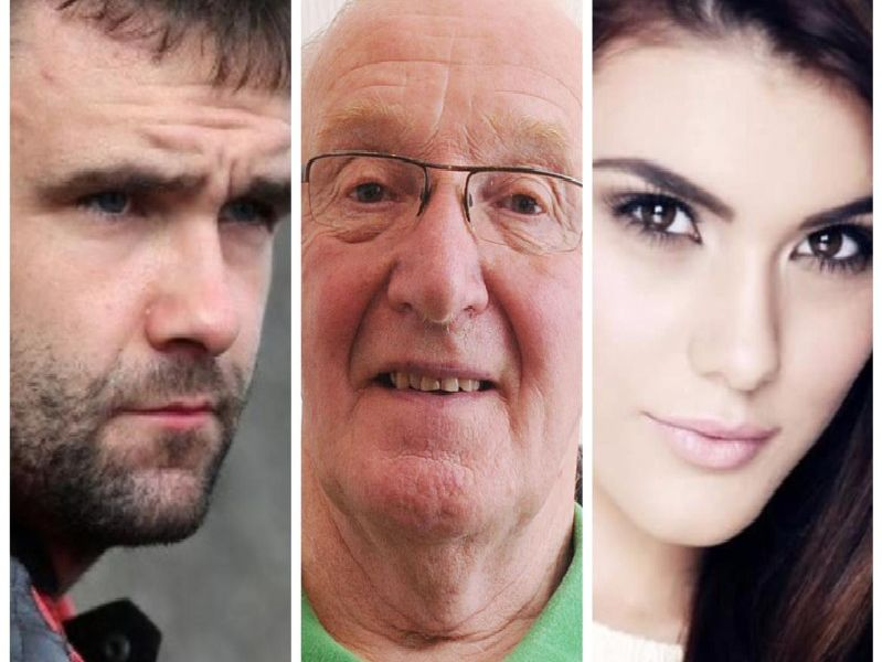 PEOPLE WE SAID GOODBYE TO IN 2018 - from left to right, motorcycle racing legend William Dunlop, former Northern Ireland kit-man, Derek McKinley and Belfast model, Mairead O'Neill.