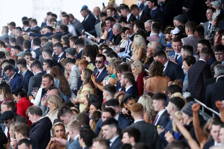 Press Eye - Belfast - Northern Ireland - 6th May 2019 -  'Down Royal Races May Day Meeting at the Maze, Lisburn. ''Racegoers pictured at Down Royal.' 'Photo by Kelvin Boyes / Press Eye.
