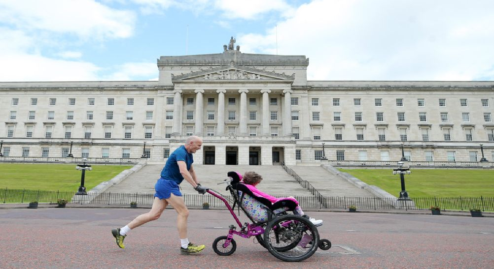 Press Eye - Belfast - Northern Ireland - 30th June 2019''Families, friends and supporters of the Children's Cancer Unit Charity gathered at Parliament Buildings today, to take part in the CCUC Stormont Mile. ''The event was held to raise awareness of childhood cancer in Northern Ireland and in aid of the Children's Cancer Unit at the Royal. For more information visit www.childrenscancerunit.com.''''Picture by Jonathan Porter/PressEye