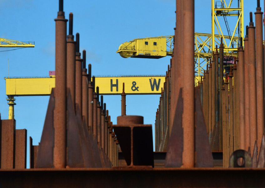 A look around Harland & Wolff shipyard