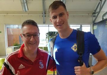 Angus Henry pictured with Paddy.