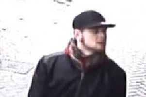 Police want to trace this man in relation to a theft in a Kingshorpe shop.
