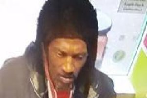 Officers want to speak to this man in relation to a meat theft in Duston.