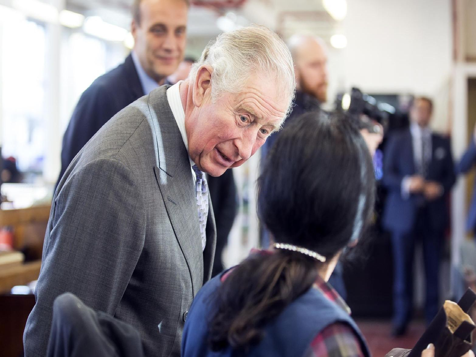 Tricker's celebrates its 190th anniversary in the company of Prince Charles. Pictures: Kirsty Edmonds.